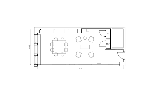 Floor-plan of 2 West 45th Street, 14th Floor, Suite 1401, Room B