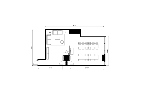 Floor-plan of 2020 Robert Bourassa, 20th Floor, Room 2030