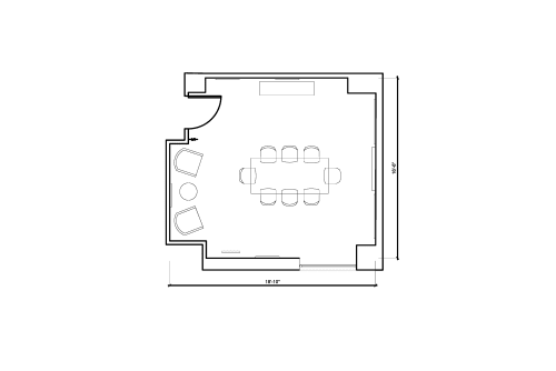 Floor-plan of 211 E 43rd Street, 17th Floor, Suite 1703, Room 3