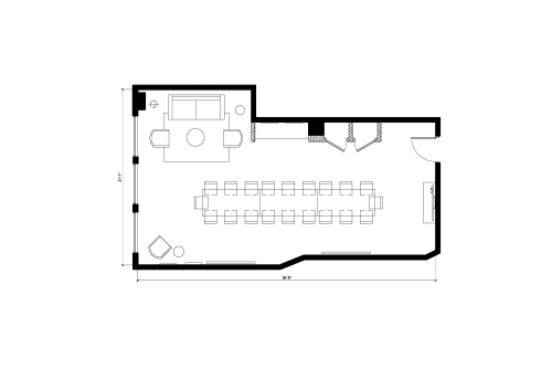 Floor-plan of 213 West 35th Street, 6th Floor, Suite 609