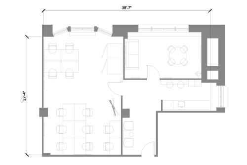 Floor-plan of 215 Park Avenue South, 20th Floor, Suite 2010