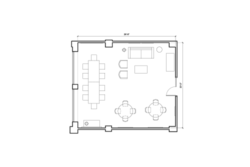 Floor-plan of 2160 Rue de la Montagne, 7th Floor, Room 720