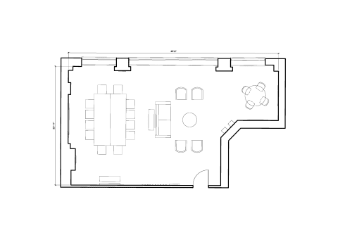 Floor-plan of 21 Poland Street, Soho, 3rd Floor, Room 1