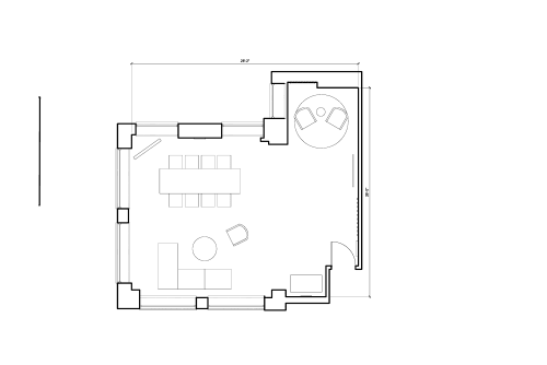 Floor-plan of 21 Poland Street, Soho, 3rd Floor, Room 2