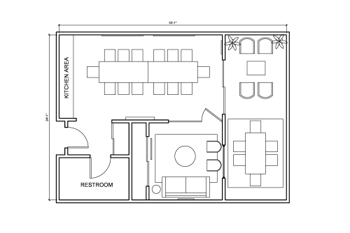 Floor-plan of 2216 Main St., 2nd Floor, Suite 203
