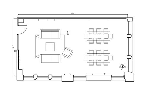 Floor-plan of 223 W. Jackson, 11th Floor, Suite 1100