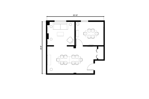 Floor-plan of 251 Post St., 3rd Floor, Suite 300