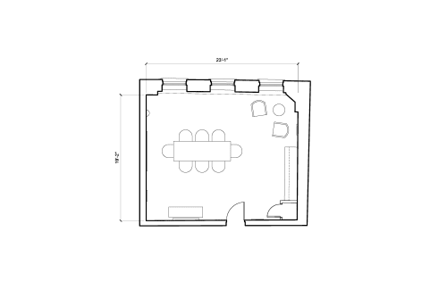 Floor-plan of 25 Dover Street, Mayfair, #-1, 25 Dover Street, Mayfair, 4th Floor, Room 1