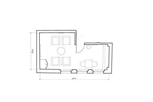 Floor-plan of 25 Dover Street, Mayfair, #-2, 25 Dover Street, Mayfair, 4th Floor, Room 2
