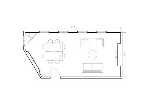 Floor-plan of 26 Mortimer Street, Fitzrovia, 1st Floor