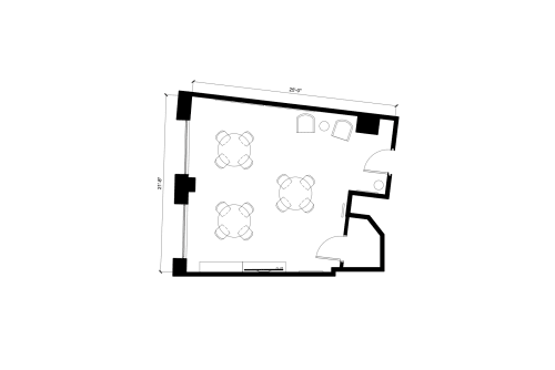 Floor-plan of 262 Washington Street, 8th Floor, Suite 801