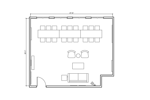 Floor-plan of 26 Broadway, 9th Floor, Suite 963-2