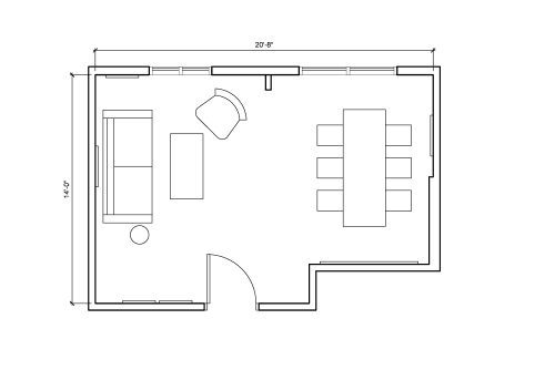 Floor-plan of 276 Fifth Avenue, 7th Floor, Suite 704, Room D