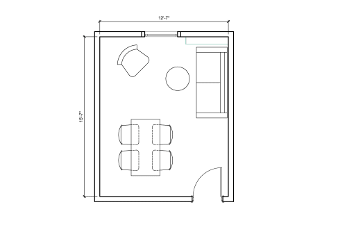 Floor-plan of 276 Fifth Avenue, 7th Floor, Suite 704, Room G