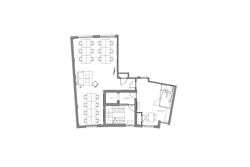 Floor-plan of 27 Provost Street, Shoreditch, #1, 27 Provost Street, Shoreditch, 2nd Floor, Room 1