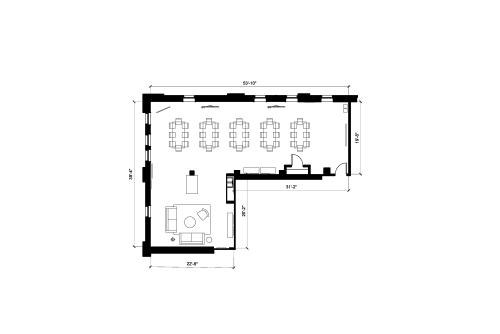 Floor-plan of 313 Congress Street, 4th Floor, Suite 400, Room 3