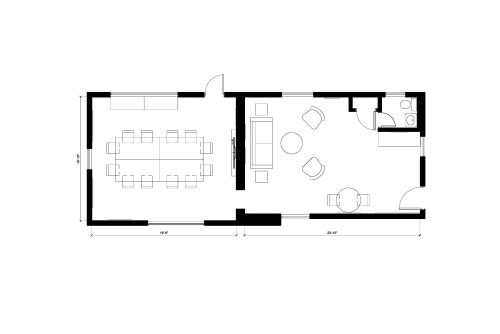 Floor-plan of 329 Bryant St., 1st Floor, Suite 3A