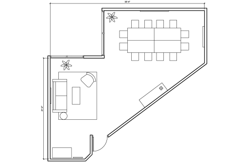 Floor-plan of 330 Bay St., 8th Floor, Suite 830, Room 1