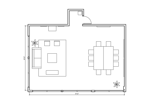 Floor-plan of 330 Bay St., 8th Floor, Suite 830, Room 2