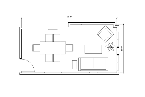 Floor-plan of 336 West 37th Street, 15th Floor, Suite 1510, Room 1