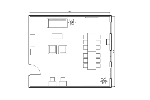 Floor-plan of 336 West 37th Street, 3rd Floor, Suite 320