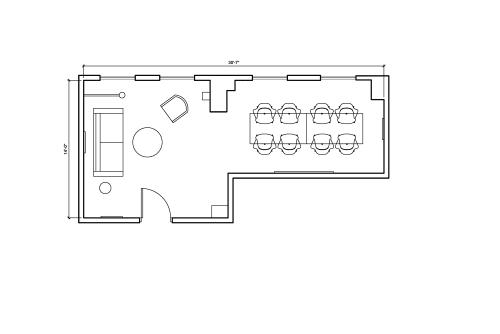 Floor-plan of 347 Fifth Avenue, 6th Floor, Suite 605