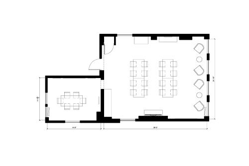 Floor-plan of 36 East 23rd, 9th Floor, Suite 9F