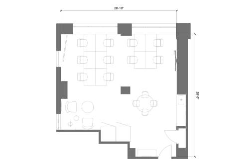 Floor-plan of 369 Lexington Avenue, 22nd Floor, Suite 2
