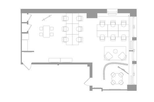Floor-plan of 37 West 57th, 11th Floor, Suite 1101