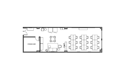 Floor-plan of 372 Rue Ste-Catherine O., 2nd Floor, Suite 212