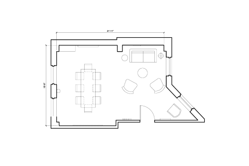 Floor-plan of 38 Rosebery Avenue, Clerkenwell, 2nd Floor, Room 2