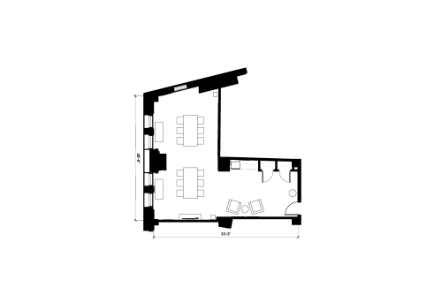 Floor-plan of 40 Exchange Place, 13th Floor, Suite 1302