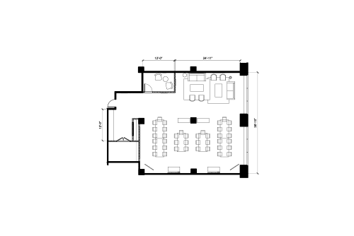 Floor-plan of 40 University Ave., 9th Floor, Suite 903