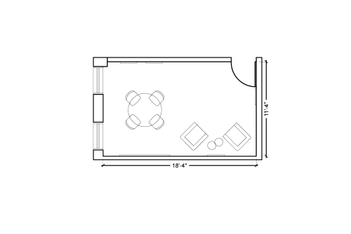 Floor-plan of 425 Adelaide St. West, 2nd Floor, Suite 201, Room 1
