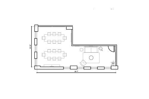 Floor-plan of 425 Adelaide St. West, 2nd Floor, Suite 201, Room 2
