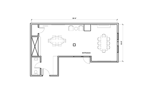 Floor-plan of 433 Natoma St., 3rd Floor, Suite 302