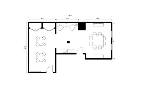 Floor-plan of 433 Natoma St., 2nd Floor, Suite 220