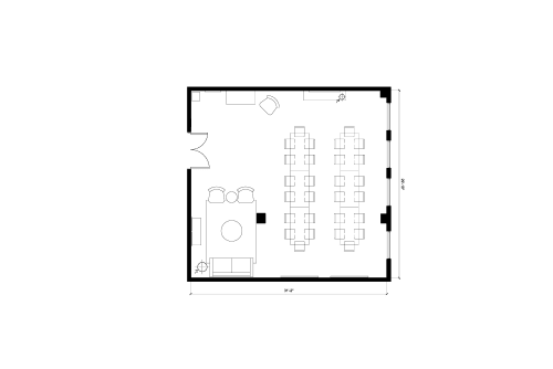 Floor-plan of 49 Geary St., 4th Floor, Suite 417