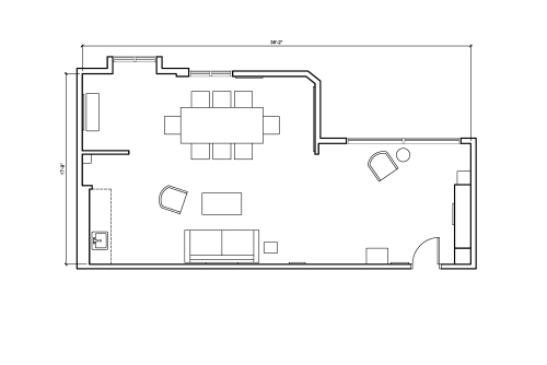 Floor-plan of 490 Post St., 2nd Floor, Suite 208
