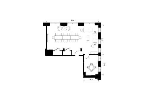 Floor-plan of 50 Rue Queen, 2nd Floor, Suite 201
