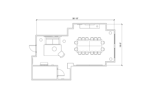 Floor-plan of 507 Place d'Armes, 2nd Floor, Suite 270
