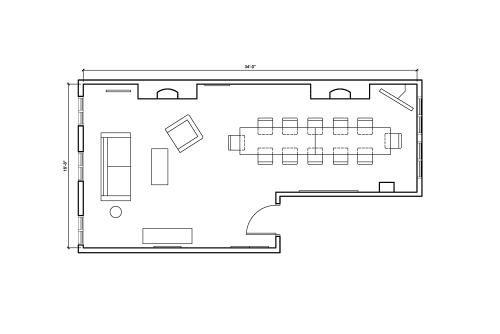 Floor-plan of 51 Wooster Street, 2nd Floor