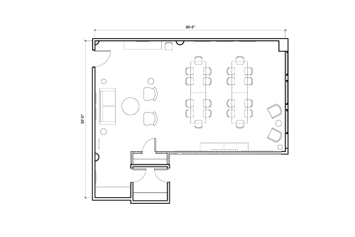Floor-plan of 54 West 21st Street, 6th Floor, Suite 601, Room B