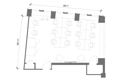 Floor-plan of 55 Broad Street, 23rd Floor