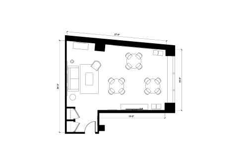 Floor-plan of 55 Broad Street, 9th Floor