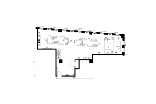 Floor-plan of 555 Boulevard René-LevesqueO., 12th Floor, Suite 1230