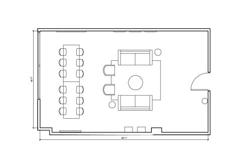 Floor-plan of 555 Richmond St. West, 4th Floor, Suite 411