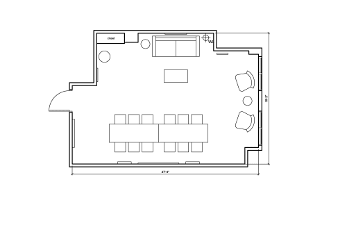Floor-plan of 576 Fifth Avenue, 3rd Floor, Suite 307
