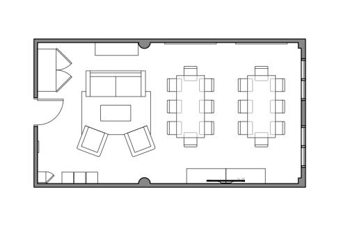 Floor-plan of 580 Broadway, 7th Floor, Suite 710