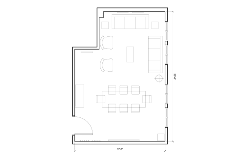 Floor-plan of 594 Howard St., 4th Floor, Suite 400, Room 1